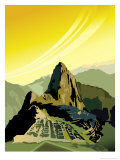A View of Machu Picchu Posters