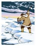 An Inuit Spear Hunting Lámina