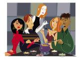 Fondue Party Art