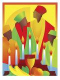 People Celebrating Kwanzaa Affiches