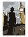 British Male in Suit, Big Ben Posters