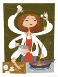 Six-Armed Chef Poster