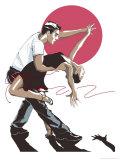 Salsa-Tänzer Kunst
