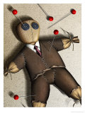 Businessman Voodoo Doll Affiches