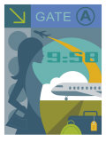 Airport Departure Montage Poster