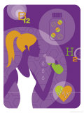 Female Physical Fitness Montage Posters