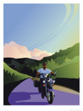 Male Motorcycle Rider Affiches
