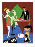 A Tourist Playing Blackjack at a Casino Art