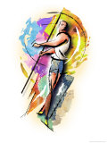 Javelin Thrower Affiches