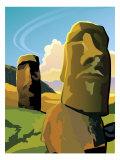The Moai Statues on Easter Island Láminas