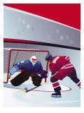 People Playing Hockey Prints