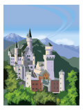 A View of the Neuschwanstein Castle in Bavaria Posters