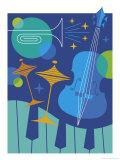 Jazz Instrument Montage Affiches