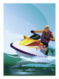 Man on Jet Ski Affiches