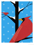 Two Cardinals in a Tree Poster