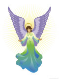 Angel Tree Topper, Grouped Elements Affiches