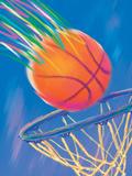 Basketball Going into Hoop Láminas