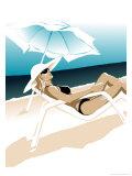 A Woman on a Beach Affiches
