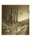The War of the Worlds, The Martians are Seen to be Working by Night Lámina giclée por Henrique Alvim Corrêa