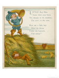 Little Boy Blue, the Horn-Blower Stands on Top of the Haystack Giclee Print by Edward Hamilton Bell
