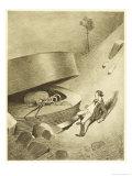 The War of the Worlds, The First Martian Emerges from the Cylinder Lámina giclée por Henrique Alvim Corrêa