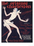 The Original Charleston, as Danced by Josephine Baker at the Folies-Bergere Paris Gicléedruk van Roger de Valerio