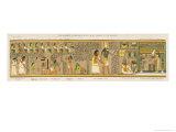 Judgement of the Dead Before Osiris in the Underworld Lámina giclée por E.a. Wallis Budge