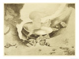 """The War of the Worlds, The Mysterious """"Thing"""" That Has Landed in the Sand-Pits Lámina giclée por Henrique Alvim Corrêa"""
