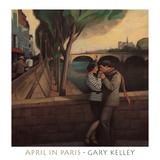 April in Paris Print by Gary Kelley