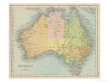 Landkarte, die vermutlich kurz nach 1861 angefertigt wurde Giclée-Druck von  Bartholomew