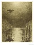 The War of the Worlds, a Martian Machine Over the Flooding Thames Lámina giclée por Henrique Alvim Corrêa