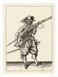 Musket and Arquebus Holland, Loading Lámina giclée por Jakob De Gheyn