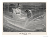 Freya Spinning the Clouds Giclee Print by J.c. Dollman