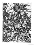 The Four Horsemen of the Apocalypse Giclée-tryk af Albrecht Dürer
