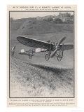Louis Bleriot Flies the Channel Landing at Dover 37 Minutes after Take-Off from Near Calais Lámina giclée por Samuel Begg