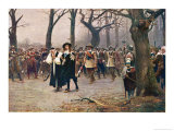 Charles I Walks to His Execution in Whitehall Giclee Print by Ernest Crofts
