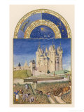 September the Wine Harvest Takes Place Close to the Chateau De Saumur Giclée-tryk af Pol De Limbourg
