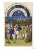May Celebrating May Day Near the Town of Riom in the Auvergne Giclée-tryk af Pol De Limbourg