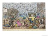 Raining Cats and Dogs, and Pitchforks Lámina giclée por George Cruikshank
