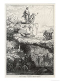 "In Plato's ""Republic"" Socrates Likens Mankind to Prisoners in a Cave Giclee-trykk av  Chevignard"