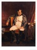 Napoleon Emperor Defeated at Fontainebleau 1814 Lámina giclée por Paul Hippolyte Delaroche