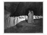Procession of Damned Giclee-trykk av Gustave Doré