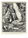 Achilles Pities Penthesilea after Slaying Her Lámina giclée por Henry Justice Ford
