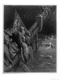 Mariner Watersnakes Lámina giclée por Gustave Doré