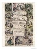Oliver Twist by Charles Dickens Giclée-tryk af George Cruikshank