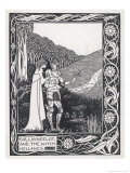 Sir Lancelot and the Witch Hellawes Reproduction procédé giclée par Aubrey Beardsley