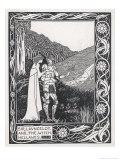 Sir Lancelot and the Witch Hellawes Lámina giclée por Aubrey Beardsley