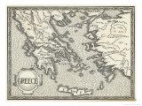 Mapa de la Grecia Antigua Lámina giclée por Henry Justice Ford