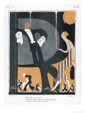 A ritmo del jazz inglese Stampa giclée di H. Clark