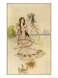 Fairy by the Sea Lámina giclée por Warwick Goble